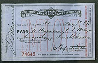 New York Lake Erie & Western Railroad Employe Pass Susquehanna-Smithboro 1895