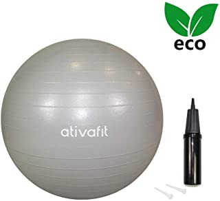 """ATIVAFIT Pink Exercise Ball 21.7"""" Anti Burst Resistant Yoga Ball for Pregnant Women Gym,  Home,  Office"""