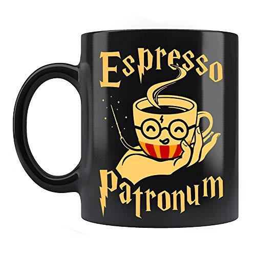 Espresso Patronum Mug, Funny Spell Magic Witch Ceramic Coffee Mugs Saying Black, 11Oz