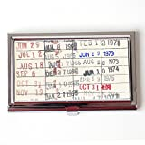 Library Due Date Card Business Card Case