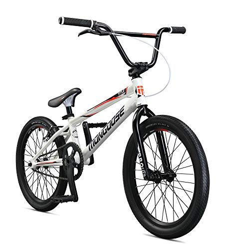 Mongoose Unisex – Erwachsene Title Elite Pro XXL BMX Race Bike, Weiss, one Size
