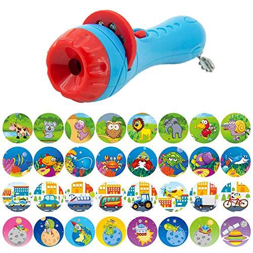 domiluoyoyo Kinder Projektionslampe Taschenlampe Projektor Kindergeschichten Pädagogische Erleuchtung Kognitive Baby Schlaf Bettwäsche Lampe Spielzeug Tier Projektion Für Kleinkinder Kinder usefulness