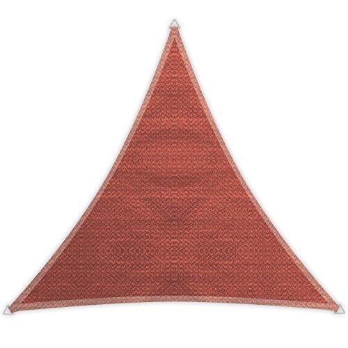 Windhager Voile d'ombrage SunSail Adria, Triangulaire 3,6 x 3,6 m (isocèle), Solaire, Protection UV, résistant aux intempéries et Respirant, Terracotta, 10971, 3,6 m