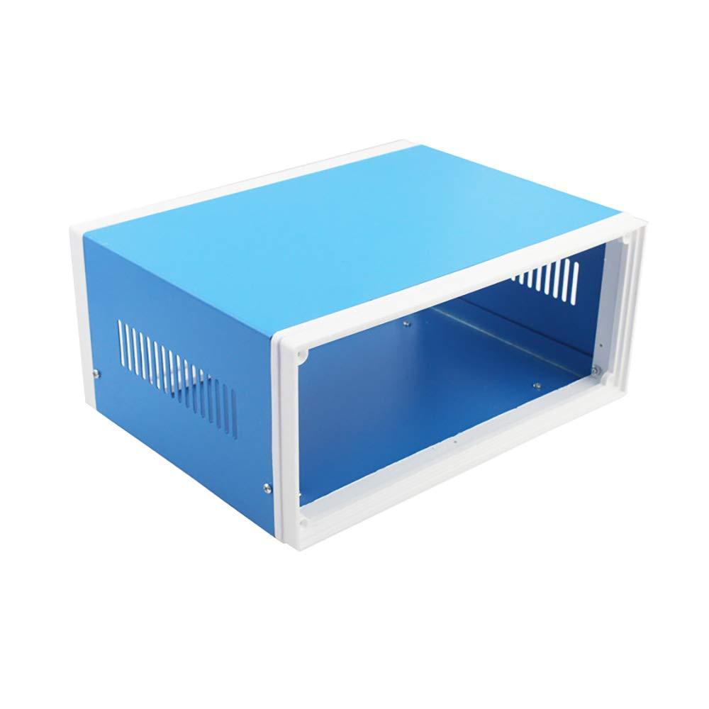 Magiin - Caja de derivación para proyectos (250 x 190 x 110 mm, metal), color azul: Amazon.es: Bricolaje y herramientas