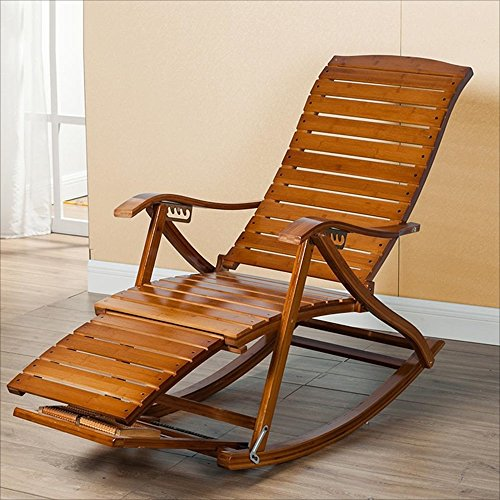 NYDZDM Leisure Rocking Chair Bamboo Rocking Chair Old Man Lunch Break Chair Chair Solid Wood Rocking Chair Lazy Chair Easy Chair