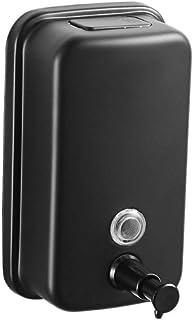 Premium Quality Zeepdispenser RVS Single Head zeepdispenser Keuken Zeepdispenser Badkamer Wall Opknoping Sha (Color : Blac...