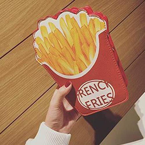 Borsa da Donna Simpatica Borsa A Tracolla per Hamburger/Popcorn A Forma di Cartone Animato Catena di Moda per Bambini Borsa A Tracolla in Pelle Pu Piccola Borsa Blu