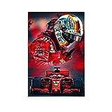 SJHAD F1 Racing Driver Sebastian Vettel Wandkunst Leinwand