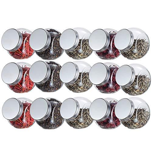 Schüttdosen Streudosen Stapelbar Platz Sparen Transparent Und Sichtbar Glas Zum Küche 3 Spezifikationen (Size : 200MLX15)