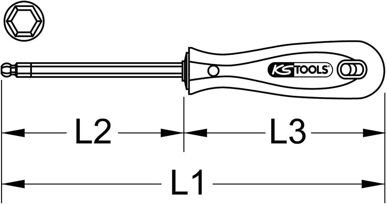 KS Tools 962.0955 BERYLLIUMplus Schraubendreher für Innensechskantschrauben 10 mm,mit Kugelkopf B00QU7SFY0 | Elegant und feierlich