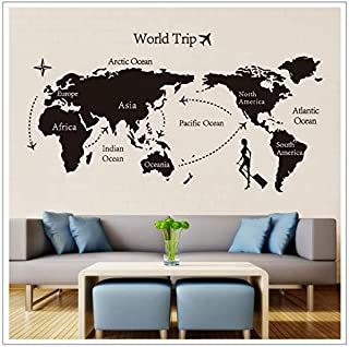 Removable Paper for Decor Vinyl Wall Stickers on The Wall for Kids Rooms Decals House Sticker Girls World map Sticker