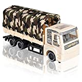 ArtCreativity Push and Go Transportation Safari Truck - Unique Animal Figurines Storage - Durable Plastic Truck with Fabric Cover - Best Birthday for Boys and Girls, Carnival Prize