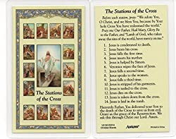 Stations of the Cross Holy Card
