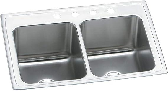 Elkay Dlr2519100 Sink 25 X 19 Stainless Steel Double Bowl Sinks Amazon Com