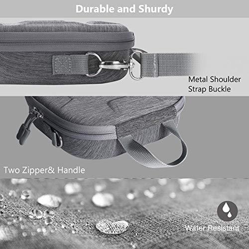 Cuttey - Bolsa de almacenamiento de viaje con funda rígida para OSMO Mobile 3, color negro y gris