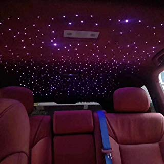 10W Twinkle Fiber Optic Star Ceiling Light Kit for Car, LED RGBW Engine Driver with 28key RF Remote Control 0.03in/0.75mm 6.5ft/2m 150pcs