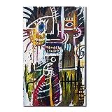 ZSLMX Banksy Wall Art Decoración del Hogar Artista Moderno Jean-Michel Basquiat Colorido Street Graffiti Art Pictures Poster HD Prints Arte De La Pintura De La Lona - Sin Marco,70×105cm