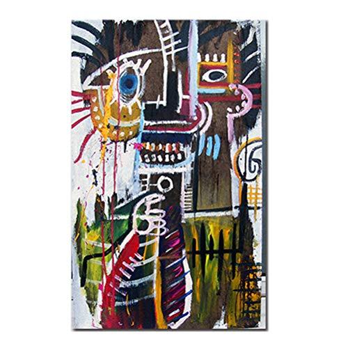 Banksy Wall Art Decoración Del Hogar Artista Moderno Jean-Michel Basquiat Colorido Street Graffiti Art Pictures Poster HD Prints Arte De La Pintura De La Lona - Sin Marco,40×65cm