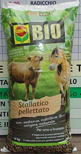 Compo Bio Stallatico Pellettato kg. 15 Concimi Organici/Biologici, Multicolore, Unica
