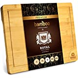 Bamboo Cutting Board with Juice Groove - Best Kitchen Chopping Board for Meat (Butcher Block) Cheese...