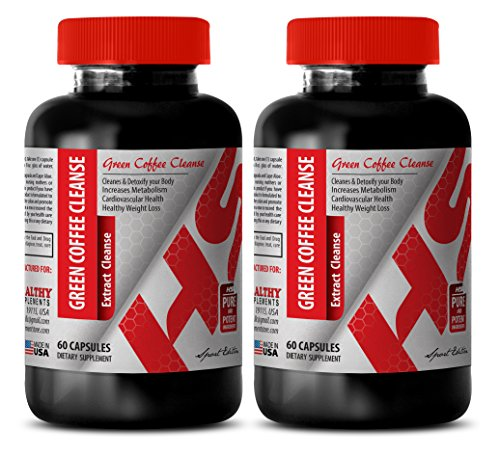 Fat Burner for Women Best Seller - Green Coffee Extract Cleanse - Green Coffee Bean Extract Energy - 2 Bottles 120 Capsules