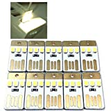 INVESCH 10 Pack USB Powered LED Night Light Portable Keychain USB Camping Lamp (3-led not dimming)