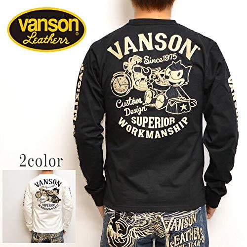 VANSON X FELIX THE CAT バンソン FXV-714 天竺長袖Tシャツ ブラック色 ロンT フィリックス フェリックス サイズL