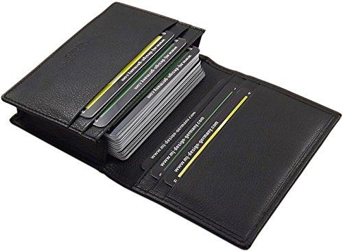 Cuero Tarjetero para Tarjeta de crédito o Tarjetas de Visita en el Color de Negro