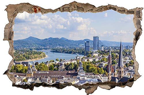 City Skyline Bonn Gebirge Stadt Wandtattoo Wandsticker Wandaufkleber D1433 Größe 60 cm x 90 cm