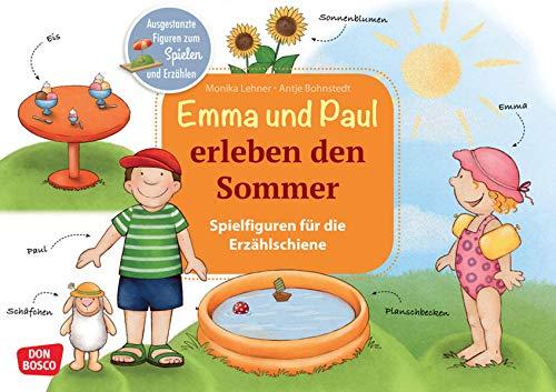 Emma und Paul erleben den Sommer.: Einfaches Figurentheater für Kita & Krippe: Ausgestanzte Figuren, Kulissen, Textheft – sofort losspielen! ... die Erzählschiene: Emma-und-Paul-Geschichten)