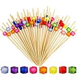 DLOnline 200 Counts 4.7 Inches Acrylic Pearl Fruit Sticks,Wooden Party Picks for...