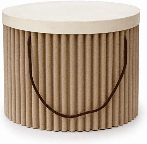 cArtù Box: Presenta Il Tuo Regalo con Stile ed Eleganza. Protettive e robuste, Complete di Coperchio in Legno. Tondo Piccolo- Dimensioni Interne: d. 24 cm, h. 17 cm, Esterne: d. 27 cm, h. 21.5 cm