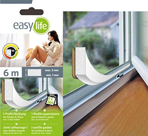 Dichtungen für Fenster und Türen Gummi Fensterbank Fensterdichtung (I-Profil weiss)
