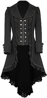 Women's Gothic Tailcoat Steampunk Jacket Tuxedo Suit Coat Victorian Costume