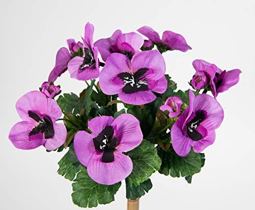 Stiefmütterchen 26cm lila PM Kunstpflanzen Kunstblumen künstliche Pflanzen Blumen Veilchen