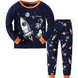 Qzrnly - Pijama para niños de 2 a 9 años, diseño cohete y astronauta (Estilo 6), 100 % algodón, manga larga