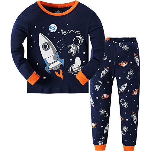 Qzrnly Boys' Long-Sleeved Pyjamas Autumn Winter Sleepwear Pyjama Sets 98 104 110 116 122 128 134
