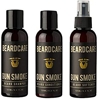 Beard Shampoo, Conditioner and softener set natural growth, beard grooming and skin care Beards, Goatee + Moustache Scented Softener essential for beard care kit, stops Beard Itch and makes a Beard Soft