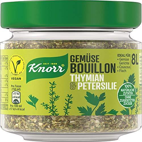 Knorr Gemüse Bouillon Thymian & Petersilie (100% Natürliche + Vegane Zutaten im Glas, 96 g )