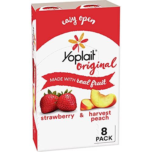 Yoplait Original Yogurt, Strawberry and Harvest Peach Variety Pack, 8 ct, 48 oz
