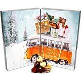 Hallingers Pralinen-Adventskalender - Retrobus (Buch-Karton)