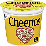 Cheerios Original Breakfast Cereal Cups, Whole Grain Oats, Gluten Free, 1.3oz (Pack of 12)