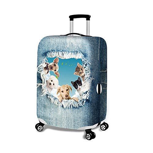 Cubierta de equipaje 18-32 pulgadas viaje del perro lindo del gato del equipaje cubierta elástica Maleta cubierta protectora carretilla del equipaje del caso de la cubierta del protector para viajes d