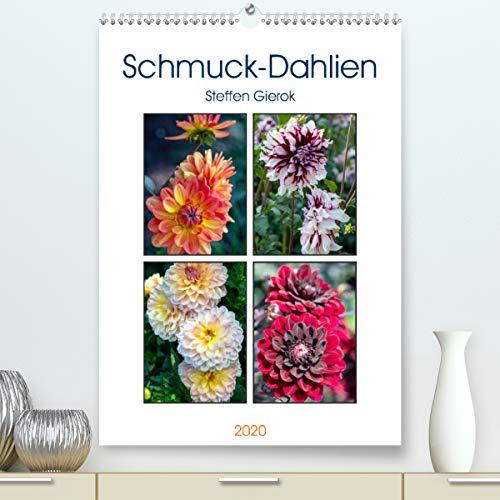 Calvendo Premium Kalender Schmuck-Dahlien: Die Gattung der Dahlien gehört zu den Korbblütlern und werden als Zierpflanzen gehalten. (hochwertiger DIN A2 Wandkalender 2020, Kunstdruck in Hochglanz)
