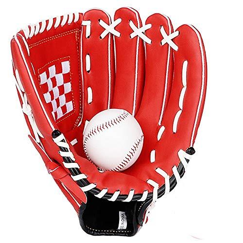 Baseballhandschuh Mode Baseballhandschuh Baseball-Werfer-Handschuhe Werfen Softball-Handschuhe mit Baseball Leichte Baseballhandschuh für Erwachsene Kinder-Jugend ( Color : Red , Size : 11 Inch )