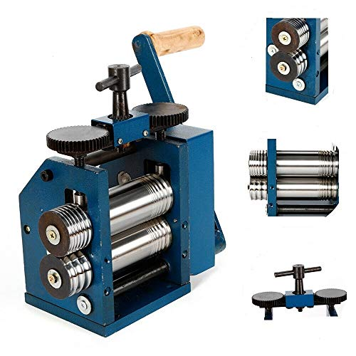 【Upgrade version】Manual Rolling Mill Machine - 3'(75mm)Roller Manual Combination Rolling Mill Machine Jewelry Press Tabletting Tool Jewelry DIY Tool - For Metal Sheet/Wire/Flat Pressing