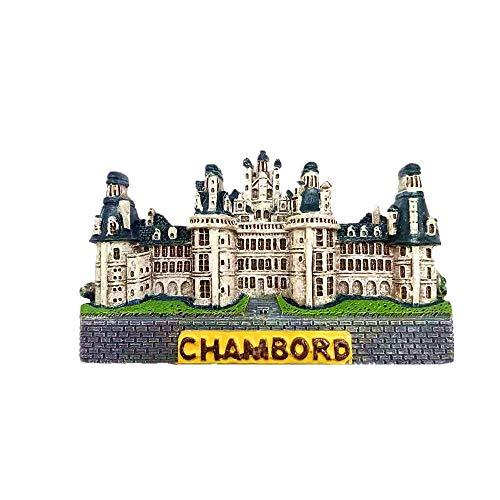 Chambord France Aimant Réfrigérateur 3D Souvenir Collection Cadeau Décoration Maison Cuisine Aimant Réfrigérateur Aimant Aimant Réfrigérateur