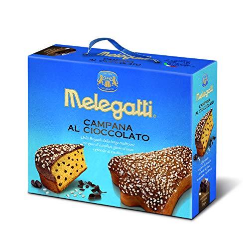 Campana Al Cioccolato Melegatti, Torta Soffice Con Gocce Di Cioccolato Fondente E Da Una Deliziosa Copertura Di Glassa Al Cacao E Granella Di Zucchero, 650 gr