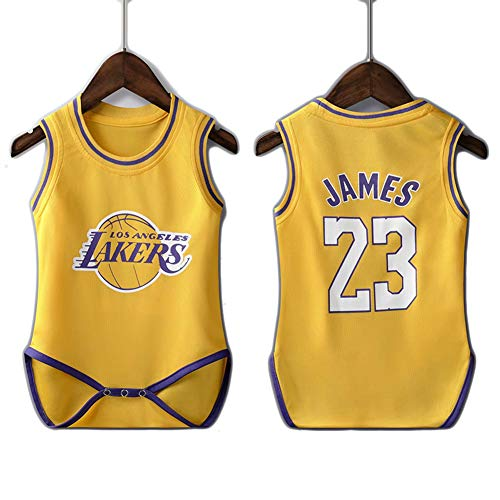 XZM Basketballkleidung für Kinder, Babymodelle, Basketballkleidung für Los Angeles Lakers 24, ärmellose Weste für Basketballkleidung für Kinder von Kobe BRYANT-James23yellow-3XS