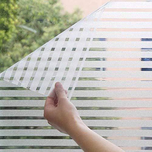 O-Kinee Milchglasfolie Fensterfolie Milchglas Duschkabinen Blickdicht Folie Fenster Selbstklebend Sichtschutzfolie Sichtschutz Statisch Haftend für Glastüren Bad Badfenster (44.5 x 200 cm)
